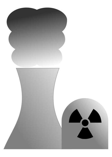 Kleurplaat kerncentrale - Afb 25552.