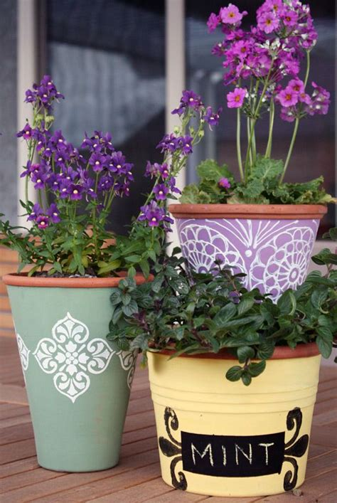 Can You Use Styrofoam In Planters by Transforming Terracotta Pots Using Outdoor Paint A Smooth