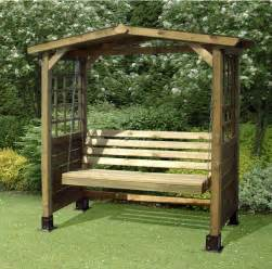 wooden garden swing bench plans
