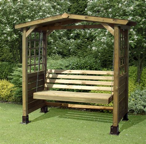 swinging benches for the garden wooden garden swing bench plans