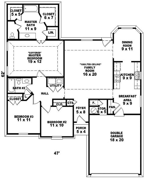 One Storey House Plans by One Story House Floor Plans One Floor House Plans With