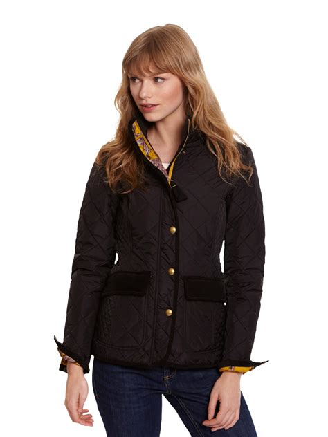 Joules Black Quilted Jacket by Joules Moredale Quilted Jacket In Black Lyst