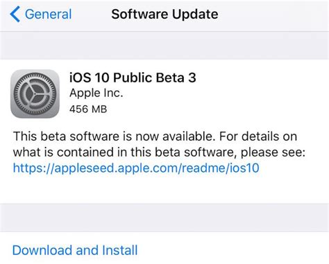 how to install ios 10 public beta on your iphone or ipad public beta 3 of ios 10 and macos sierra 10 12 download