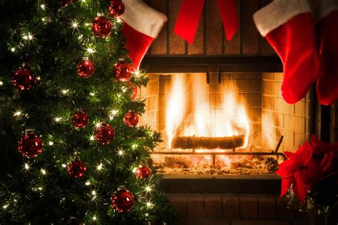 Luxury Bedrooms Interior Design by Christmas Fireplace Burning With Music Design And Ideas