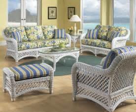 sunroom sofa sets white wicker furniture set of 5 lanai