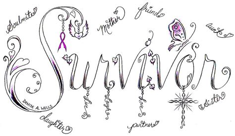 survivor tattoo design by denise a wells this design is