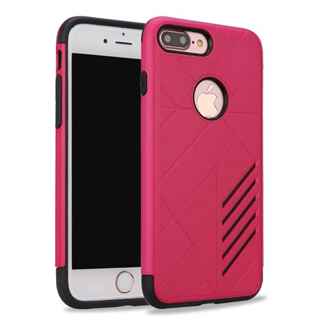 Iphone 7 Plus Pink wholesale iphone 7 plus dual layer armor hybrid pink