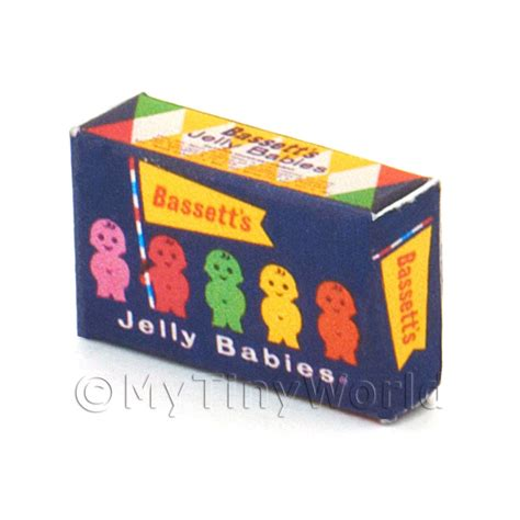 New Packing New Honey Jelly Box Original dolls house miniature packaging dolls house miniature jelly baby box from 1950s