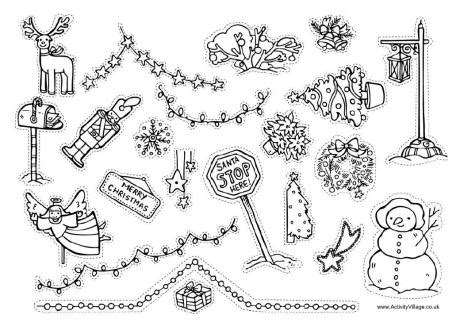 printable christmas cutouts and decorations printable decorations happy holidays