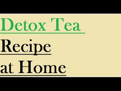 How Can I Detox My Naturally At Home by How To Detoxify Your At Home Naturally