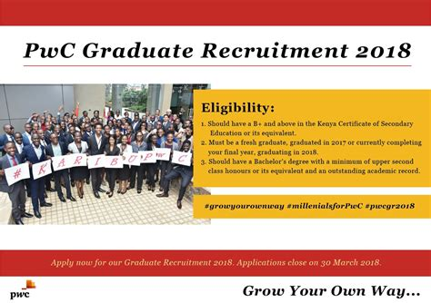 Pwc Mba Careers by Pricewaterhousecoopers Pwc Kenya Graduate Associate