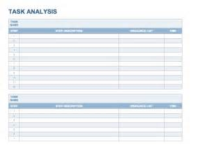 Task Analysis Template by Doc 680926 Task Analysis Template Analysis