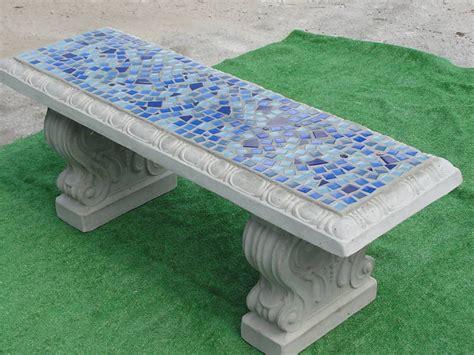 mosaic garden bench concrete mosaic bench tile garden retro vintage stone