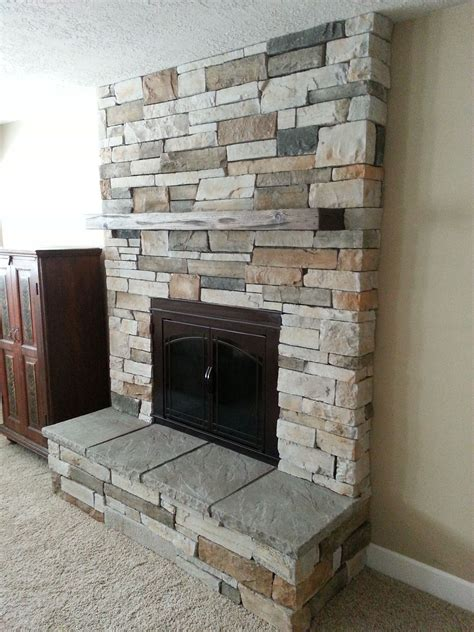 Fireplace Remodel Cultured Stone New Insert Raised Hearth Stones For Fireplaces