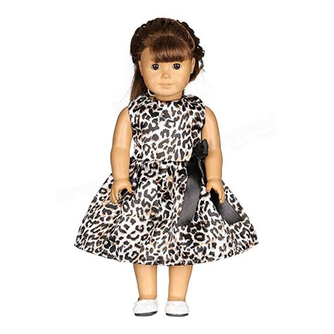 American Handmade Clothes - leopard print doll dress handmade clothes for 18inch