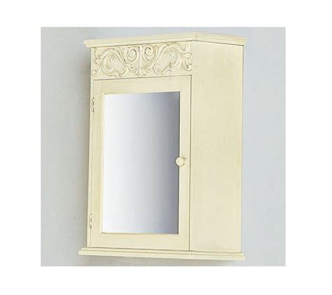 mirrored bathroom medicine cabinet in antique white ebay