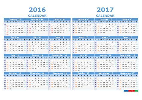 Calendar Weeks 2017 Printable Calendar 2016 And 2017 With Week Numbers Light