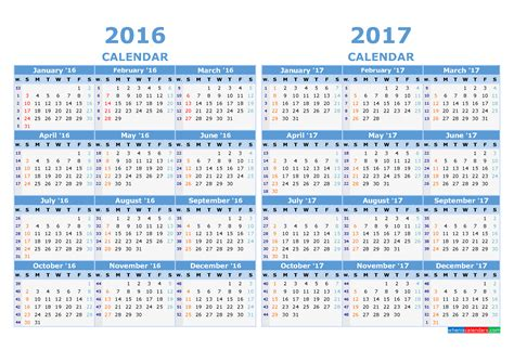 Calendar With Week Numbers 2017 Printable Calendar 2016 And 2017 With Week Numbers Light