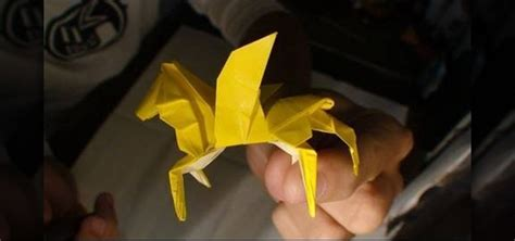 Winged Origami - how to origami a winged 171 origami
