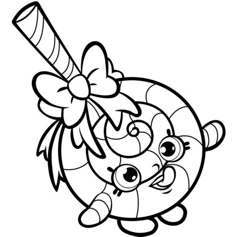 Lollipop Shopkin Free Coloring Page ? Kids, Shopkins