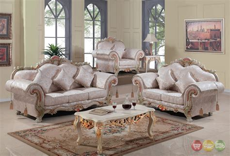 Traditional Sofas Living Room Furniture Luxurious Traditional Formal Living Room Set Antique White Carved Wood