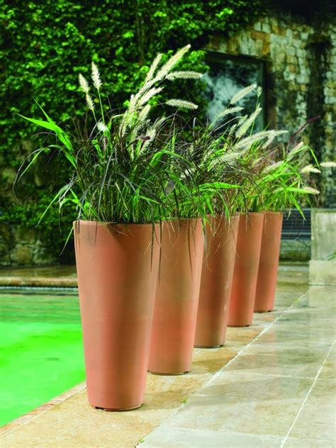 Planters Miami by Bleeker Planters Modern Outdoor Pots And Planters