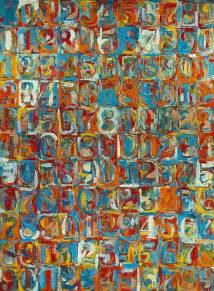 jasper johns numbers in color jasper johns