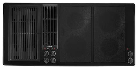 45 inch cooktop jenn air 45 quot electric downdraft cooktop black on black