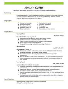 Resume Sample Security Guard by Best Security Guard Resume Example Livecareer