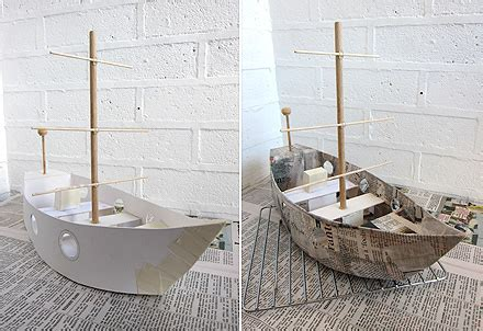 How To Make A Paper Mache Boat - ship in a bottle on ships paper mache