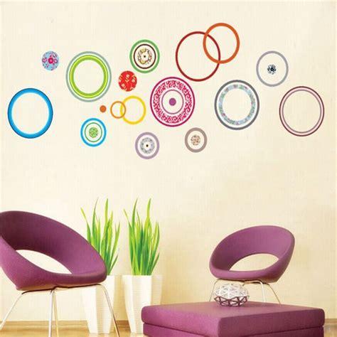 stickers mur chambre pas cher cercles color 233 s chambre d 233 corer enfants chambre stickers muraux pour enfants chambres
