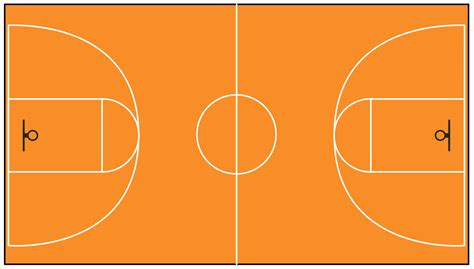 basketball court template basketball solution conceptdraw