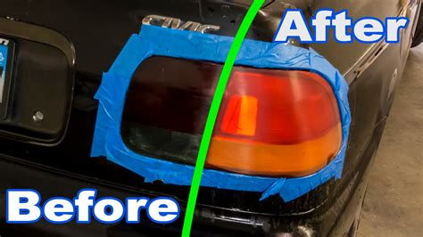 how to tint lights how to restore a tinted smoked light