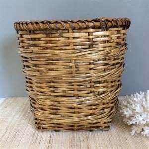 Basket Planter Vintage Wicker Planter Rattan Basket Vintage Woven Basket