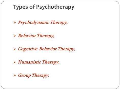 different types of therapy psychotherapy ppt