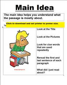 main idea comprehension passages 3rd grade what is