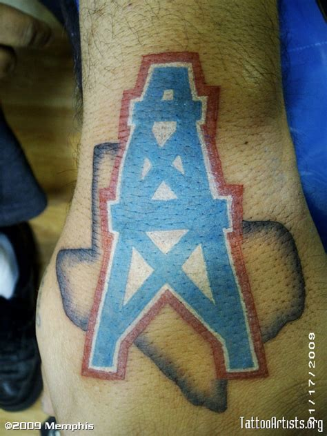 houston oilers logo with artists org