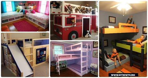 Floor Plan Stairs diy kids bunk bed free plans picture instructions