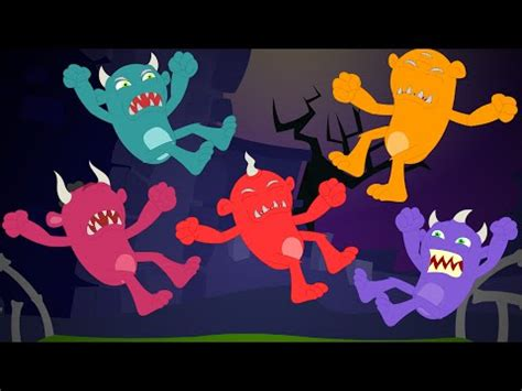 monsters jumping on the bed five little monsters halloween song doovi