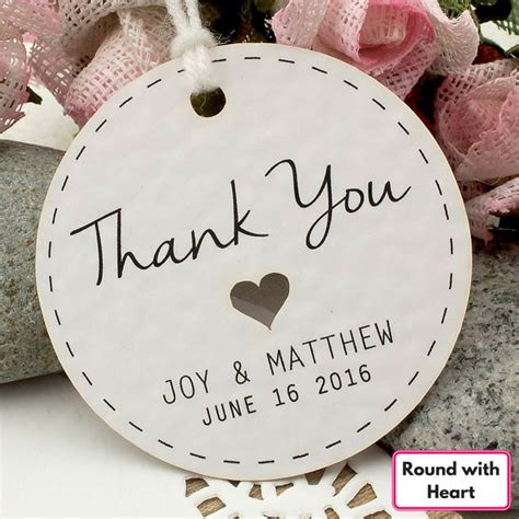 Wedding Favors Thank You Tags by Personalized White Wedding Favor Thank You Gift Tags