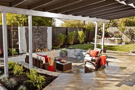 living outdoors modern outdoor sunken living room design ideas with wood