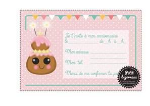 invitation anniversaire 224 imprimer invitation anniversaire