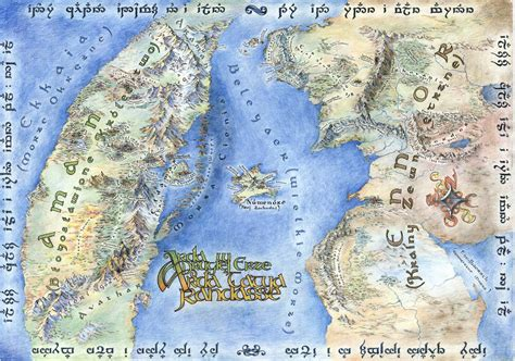large map of middle earth on the subject of maps and bad lotr