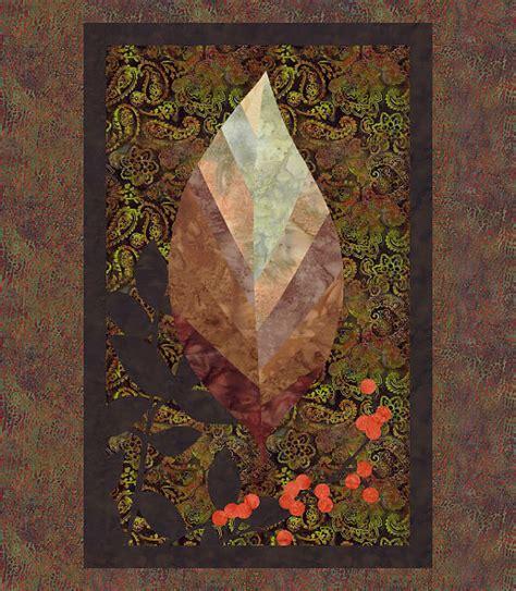 quilt pattern svg autumn leaf raw edge applique fall quilt pattern svg pdf