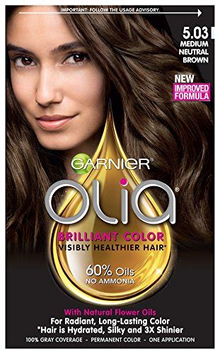 olia colors garnier hair color olia powered permanent color 5 03