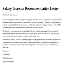 Request Letter Salary Increase Sle Recommendation Request Letter 7 Exles In Word Pdf