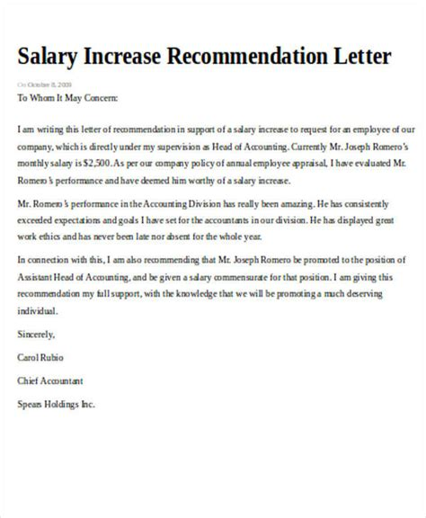 sle recommendation request letter 7 exles in word