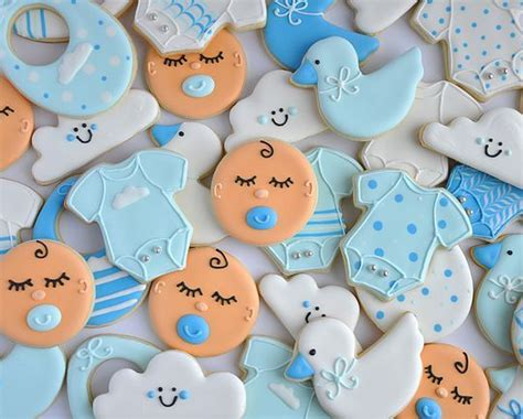 Cookies For Baby Shower Boy by Best 25 Baby Boy Cookies Ideas On Baby Shower