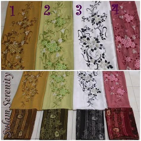 Kain Jarik Selendang Batik 149 Maroon sulam serenity kain pasang kurung manik