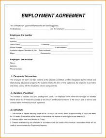 employee contract templates 10 sle of employee contract quote templates